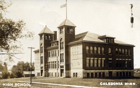 High School, Caledonia Minnesota, 1907