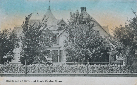 Residence of Reverend Olaf Hoel, Canby Minnesota, 1913