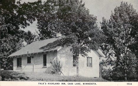Falk's Highland Inn, Cass Lake Minnesota, 1940's