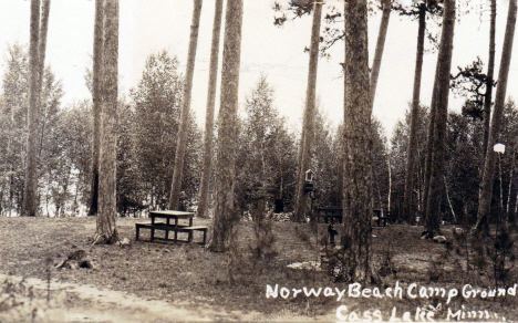 Norway Beach Campground, Cass Lake Minnesota, 1930's