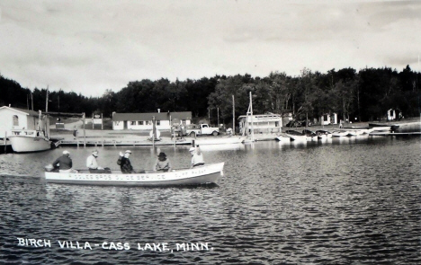 Birch Villa Resort, Cass Lake Minnesota, 1950's