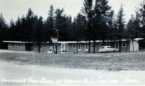 Whispering Pines Motel, Cass Lake Minnesota, 1950's