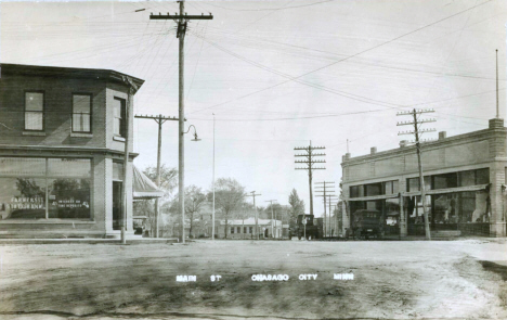 Main Street, Chisago City Minnesota, 1920's