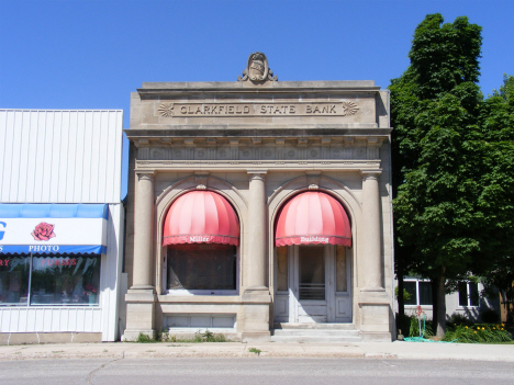 Former Clarkfield State Bank building, Clarkfield Minnesota, 2014