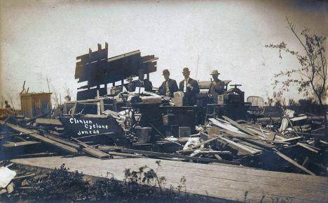Cyclone damage, Clinton Minnesota, June 28 1908