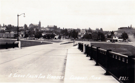 Scene from the Viaduct, Cloquet Minnesota, 1940's
