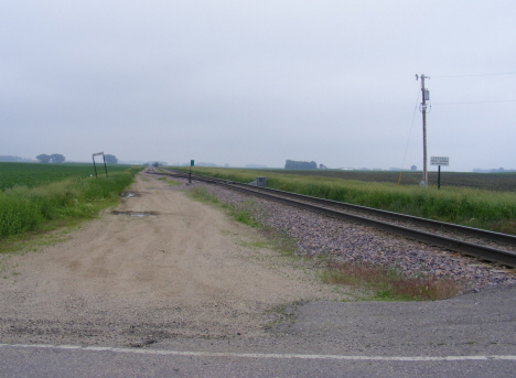 Railroad tracks, Cobden Minnesota, 2011