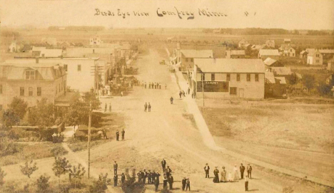 Birds eye view, Comfrey Minnesota, 1909