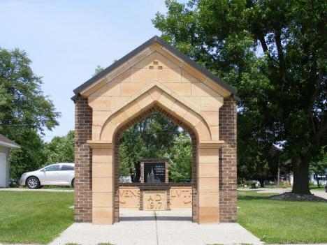 Monument to Faith Evangelical Lutheran Church, destroyed in 1998 tornado, Comfrey Minnesota, 2014