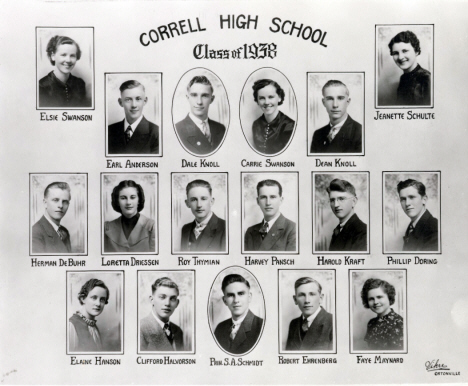 Correll High School, Class of 1938, Correll Minnesota