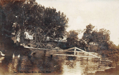 Des Moines River, Currie Minnesota, 1909