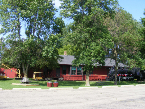Old train depot and museum, Currie Minnesota, 2014