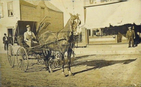Horse and buggie, Edgerton Minnesota, 1909