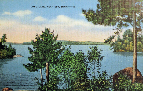 Long Lake near Ely Minnesota, 1946