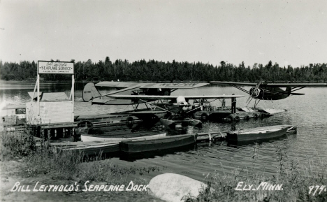 Bill Leithold's Seaplane Dock, Ely Minnesota, 1950's