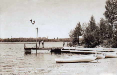 Hibbard's Lodge on Moose Lake, Ely Minnesota, 1941