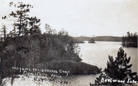 Wegan's Wilderness Camp on Basswood Lake, Ely Minnesota, 1928