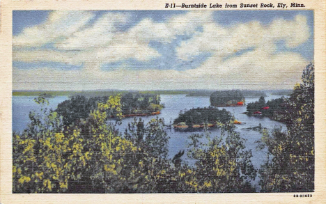 Burntside Lake from Sunset Rock, Ely Minnesota, 1948