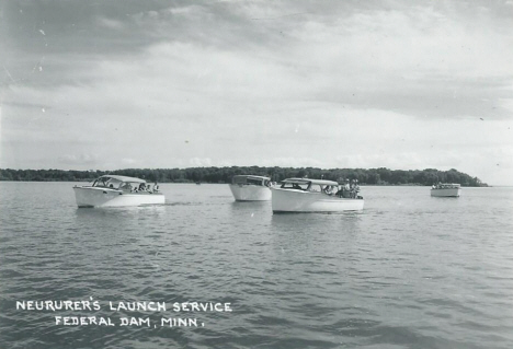Neurer's Launch Service, Federal Dam Minnesota, 1950's