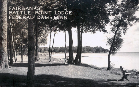 Fairbank's Battle Point Lodge, Federal Dam Minnesota, 1950's