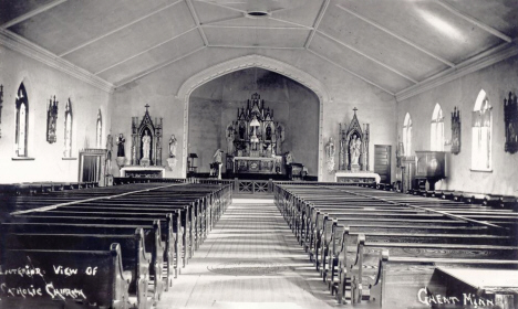 Interior of St. Eloi Catholic Church, Ghent Minnesota, 1908-1916