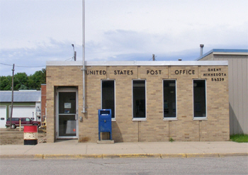 US Post Office, Ghent Minnesota