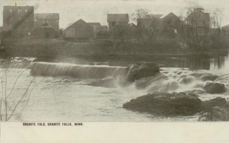 Waterfall on Minnesota River, Granite Falls Minnesota, 1907