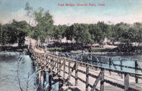 Foot Bridge, Granite Falls Minnesota, 1910