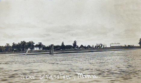 Pokegama Lake scene, near Grasston Minnesota, 1910's