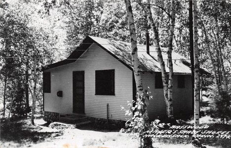 Basswood Cabin at Mayer's Shady Shores Resort, Hackensack Minnesota, 1950's