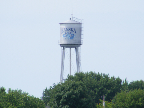 Water tower, Hanska Minnesota, 2014