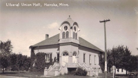 Liberal Union Hall, Hanska Minnesota, 1930's