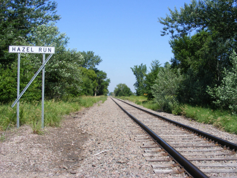 Railroad tracks, Hazel Run Minnesota, 2014