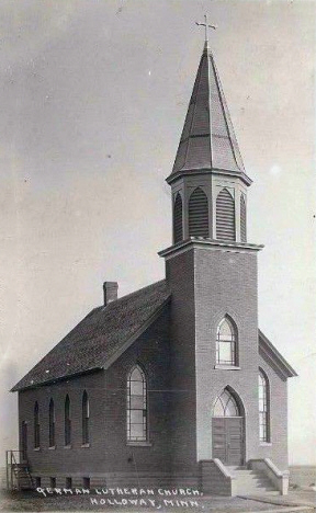 German Lutheran Church, Holloway Minnesota, 1912