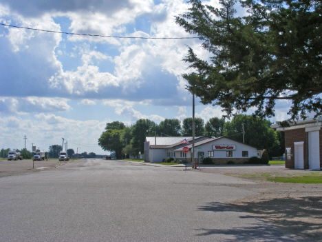 Street scene, Holloway Minnesota, 2014
