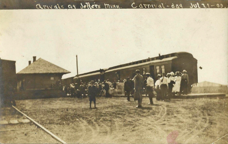 Carnival arrival at Jeffers Minnesota, 1909