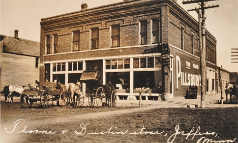 Thorne and Dustin store, Jeffers Minnesota, 1890