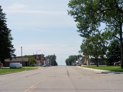 Street scene, Jeffers Minnesota, 2014