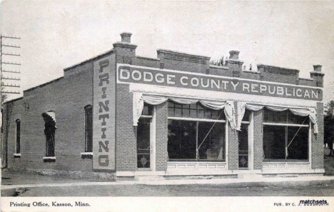 Dodge County Republican, Kasson Minnesota, 1908
