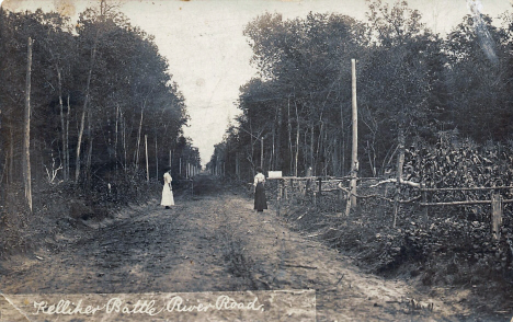 North Battle River Road, Kelliher Minnesota, 1912
