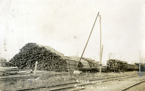 Cedar Yards, Kelliher Minnesota, 1914