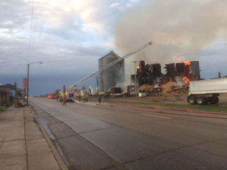 Fire at Farmers Elevator, Kennedy Minnesota, 2016