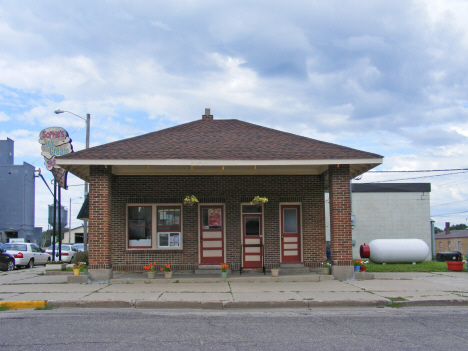 Former gas station, now ice creah shop, Kerkhoven Minnesota, 2014