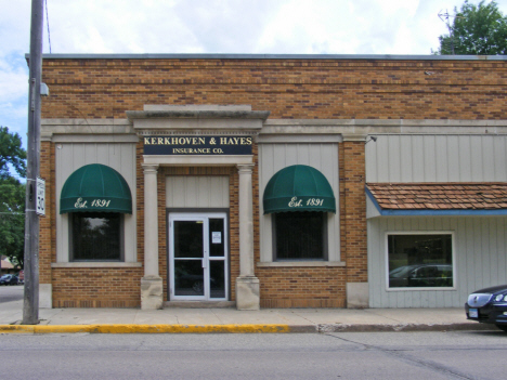 Former Post Office now Insurance Agency, Kerkhoven Minnesota, 2014