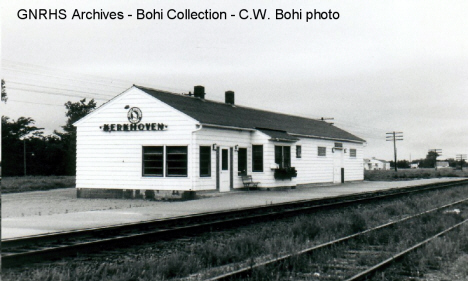 Great Northern depot, Kerkhoven Minnesota, 1968