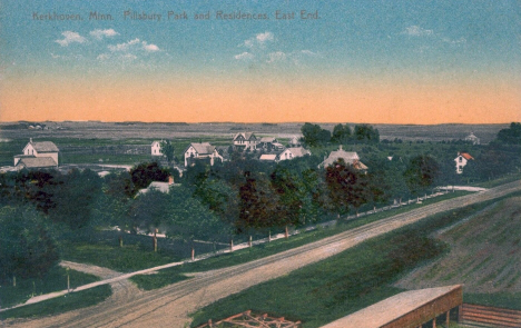 Pillsbury Park and Residences, Kerkhoven Minnesota, 1911
