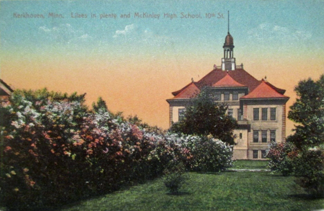 McKinley High School on 10th Street, Kerkhoven Minnesota, 1911