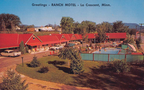 Ranch Motel, la Crescent Minnesota, 1950's