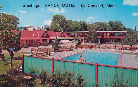 Ranch Motel, La Crescent Minnesota, 1960's