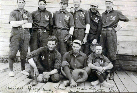 "Lake Wilson ""Cottonsox"" baseball team, Lake Wilson Minnesota, 1909"